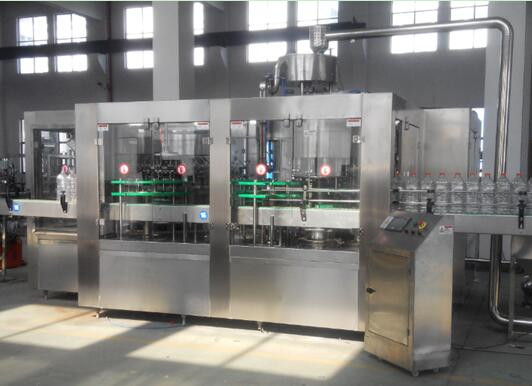 liquid detergent filling capping machine, glass bottle